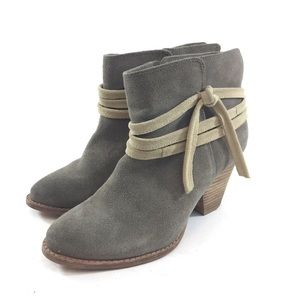 Splendid 7 Gray Cream Ankle Boots Booties